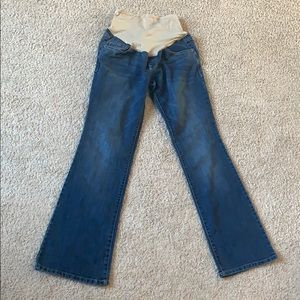 (Maternity) boot cut blue jeans